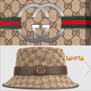 🥳HP🥳 Gucci fedora canvas GG hat PRICE IS FIRM ‼️